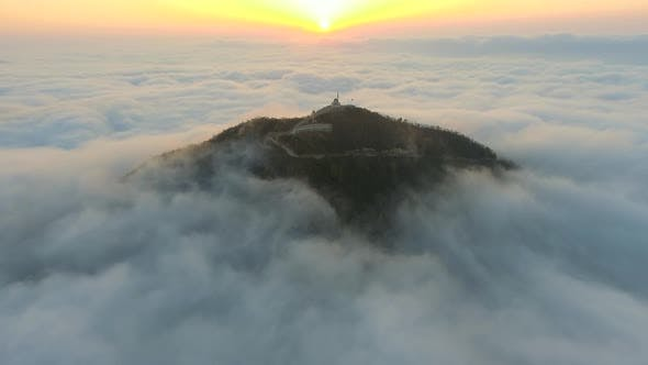 Highest Mosque in the World Above Clouds