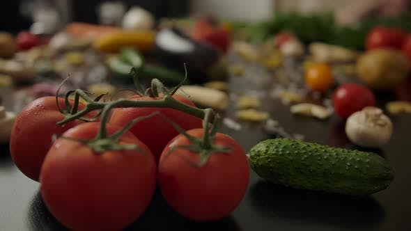 Thumbnail for Fresh Vegetables and Tomatoes for Pasta Preparation