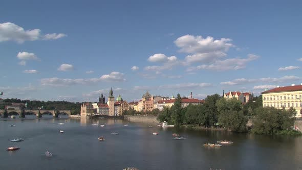 Thumbnail for Time lapse from the Vltava river in Prague