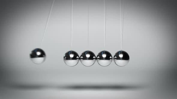 Cover Image for Bouncing Newton's Balls against Gray Background Seamless Loop