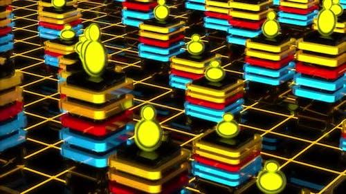 Neon Columns