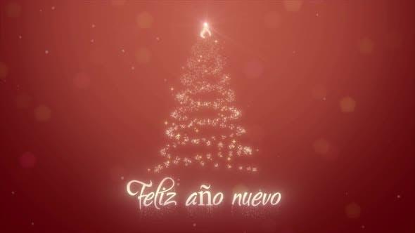 2021 Neon Animation Feliz Ano Nuevo Happy New Year on Spanish 3d Motion Design for New Year Holidays