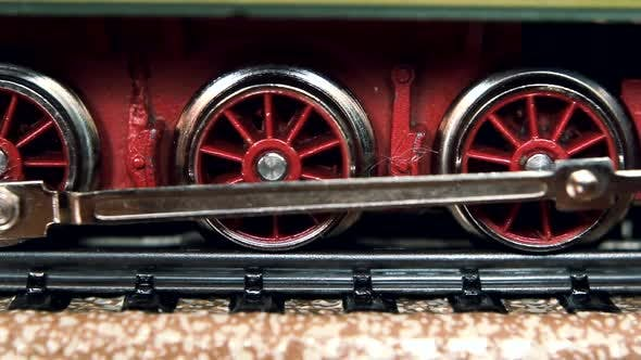Thumbnail for Scale Model Of An Old Fashioned Locomotive Steam Train.