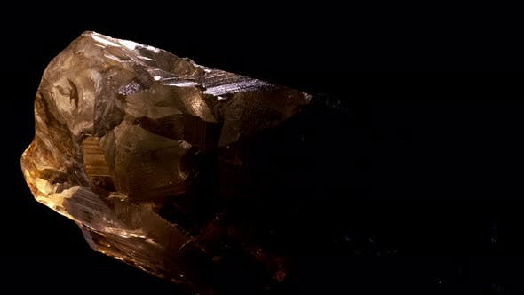 Thumbnail for Smoky Quartz Mineral Rock Gem Stone Quartz Geology Specimen, Quartz Black Background