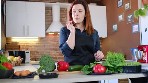Concept of Food Experiences at Home Cooking
