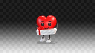 Heart gives a gift