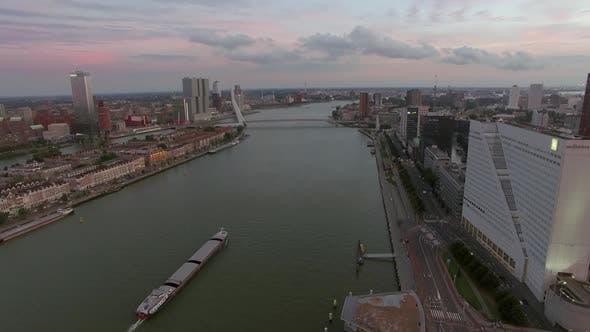 Thumbnail for Rotterdam Cityscape with Erasmus Bridge, Aerial