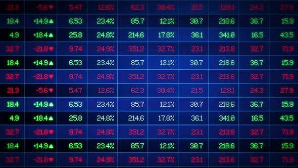 Thumbnail for Stock Market Financial Data Board