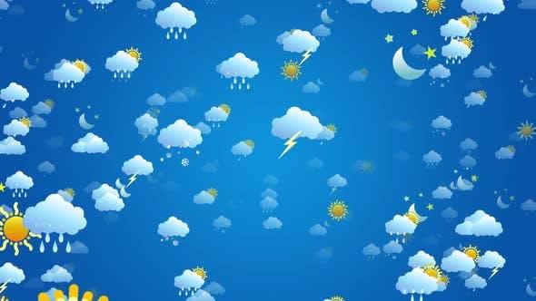 Weather Symbols Background