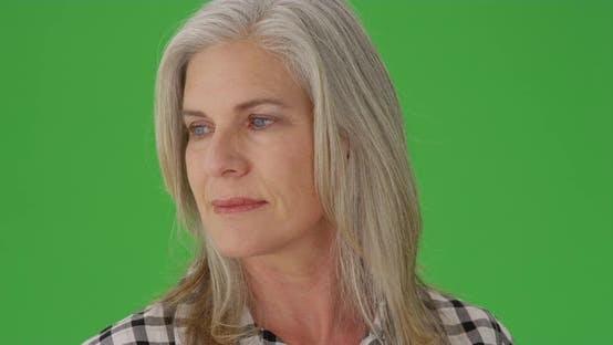 Thumbnail for Beautiful caucasian woman looking sad