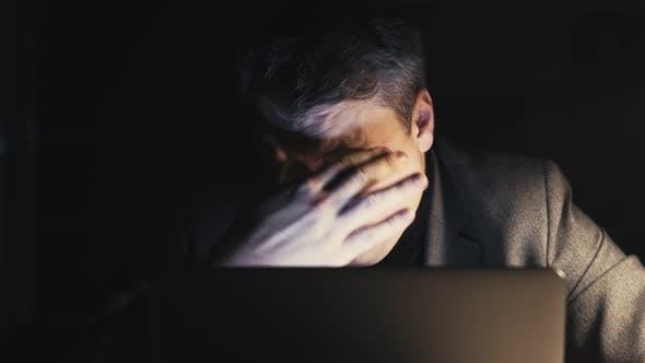 Overwork Fatigue Night Insomnia Tired Employee