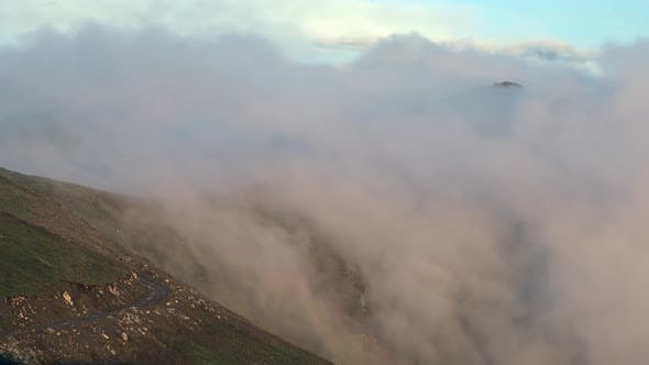 Thumbnail for Clouds Passing Over Magnificent Sumptuous Mountain Ridge