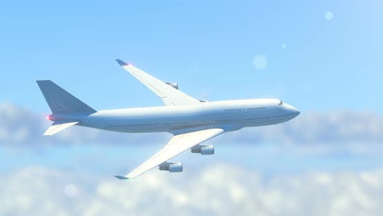 Thumbnail for Passenger Airplane Flying in Skies