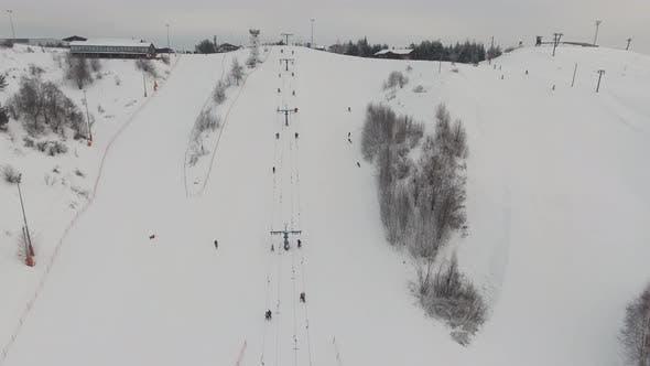 Ski Resort in the Winter Season