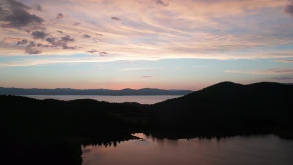 Mesmerizing Sunset Over The Lake
