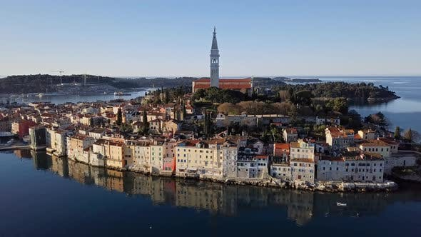Cover Image for Aerial View of Rovinj, Croatia