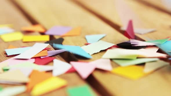 Thumbnail for Multi-colored Confetti from Paper.