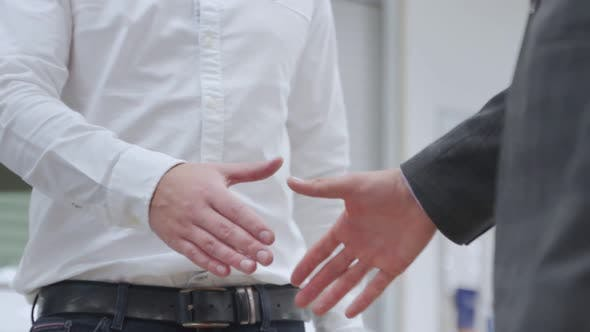 Thumbnail for Business Handshake. Two Businessman Shaking Hands in the Office.