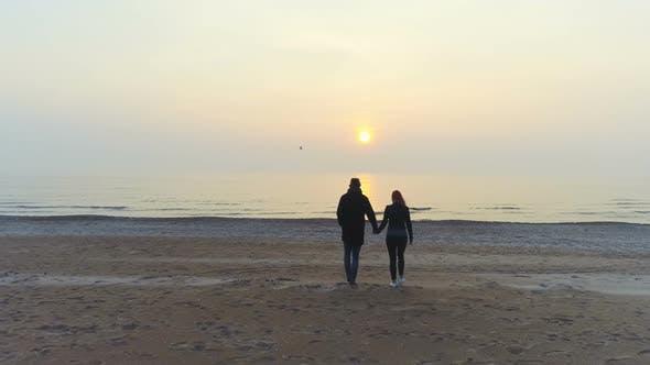 Thumbnail for Romantic Beach Scene During Sunset