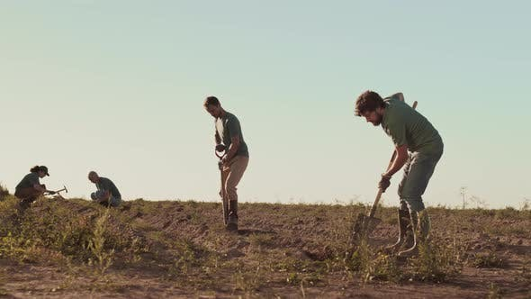Thumbnail for Gardeners Team Working in Field