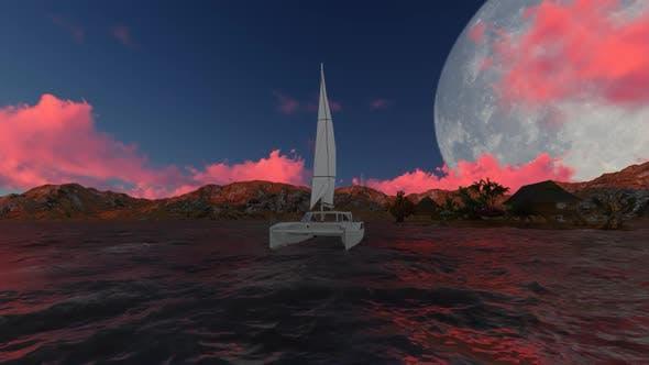 Thumbnail for Sailboat at night