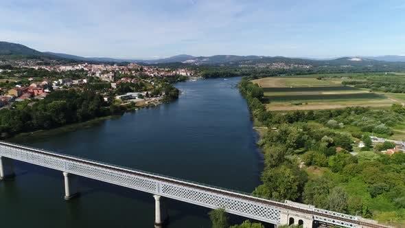 International Bridge Between Portugal and Spain
