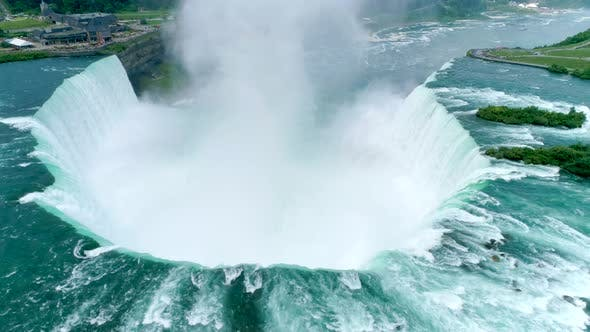 Thumbnail for Spectacular Flyover Footage of the Waterfalls