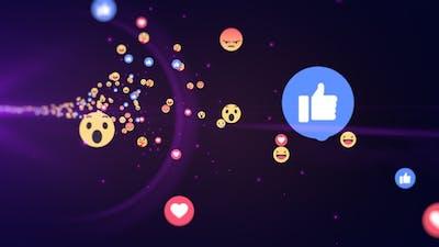 Generic Facebook Emotion Icons Flying V5