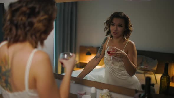 Thumbnail for Drunk Woman Depression Is Bedroom