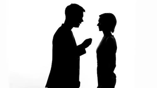 Young Woman Apologizing to Boyfriend, Relationship Problem, Misunderstanding