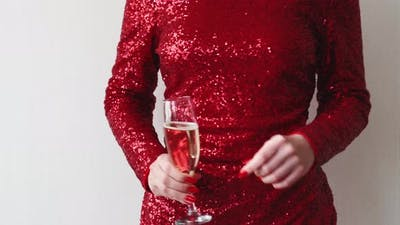 Christmas Party Happy Woman Festive Celebration
