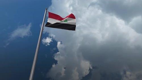 Irak-Flagge wehend 4K