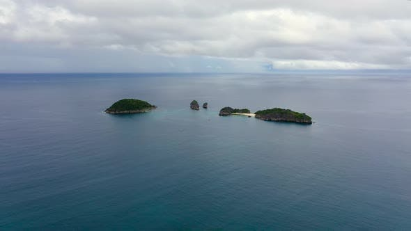 Thumbnail for Tropical Islands and Blue Sea, From Above. Caramoan Islands, Philippines