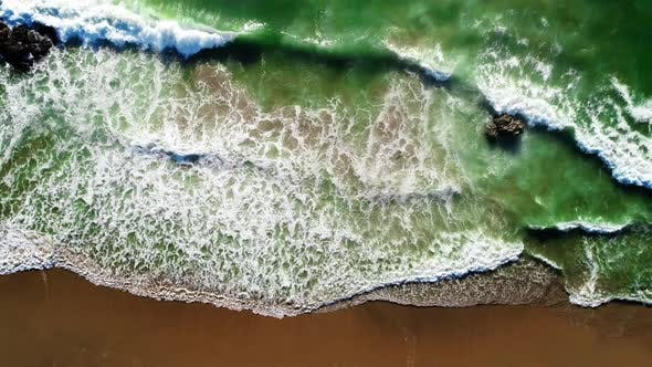 Thumbnail for Aerial View of the Golden Sand of the Beach