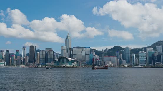 Thumbnail for Victoria Harbor, Hong Kong skyline