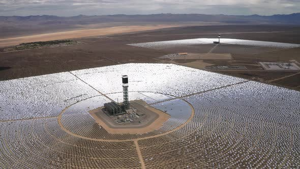 Thumbnail for Scale View on Solar Power Station, Nevada, USA,  Aerial
