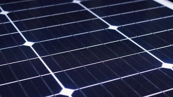 Thumbnail for Solar Panel Rotate. Monocrystalline Solar Battery. Solar Energy. Silicon Wafer