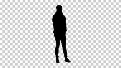 Silhouette hip hop dancer, Alpha Channel