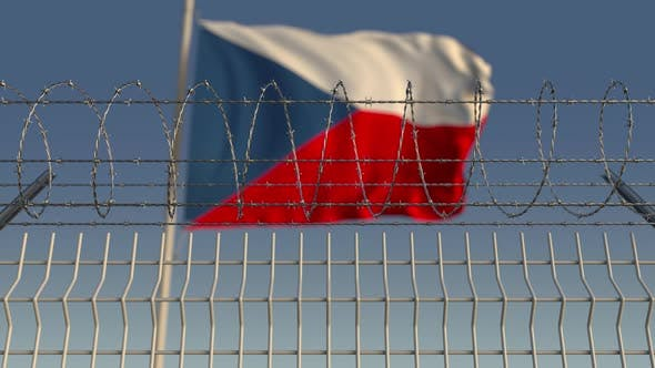 Thumbnail for Barbed Wire Against Waving Flag of the Czech Republic