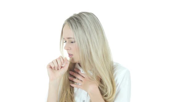 Thumbnail for Coughing, Sick Woman Suffering From Cough