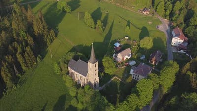 Historic Church In The Countryside