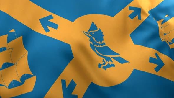 Halifax City Flag (Canada) - 4K