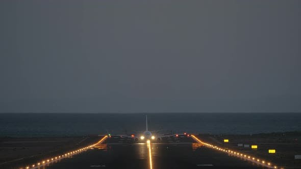 Thumbnail for A Frontal Takeoff at Night