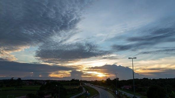 Thumbnail for Urban Sunset Time Lapse