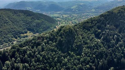 Mountains Peak Aerial Drone 4k