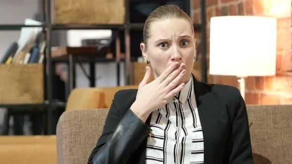 Shock, Upset Business Woman