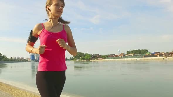 Runner Woman Running In City Exercising Outdoors 5