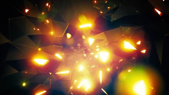 Thumbnail for Sparkling Gold Crystal Background