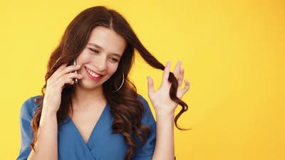 Phone Call Romantic Conversation Flirting Woman
