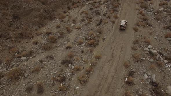 SUV on the Desert